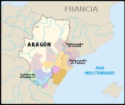 Ubicación  de Reino de Aragón