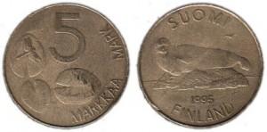 5 markkaa