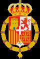 Escudo de España Amadeo de Saboya con toisón.svg