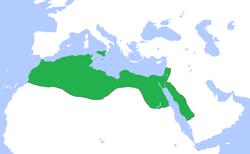Ubicación de Califato Fatimí