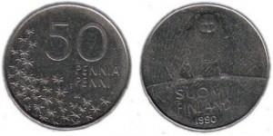 50 penniä