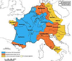 Ubicación de Imperio carolingio